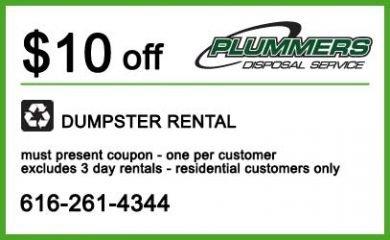$10 off Dumpster Rental