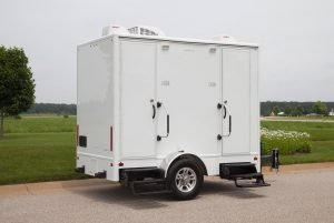 Bathroom trailer from Plummer's Disposal Services