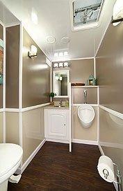 inside a luxury restroom