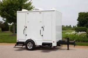 small bathroom trailers