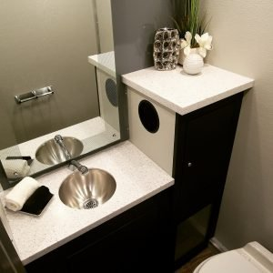 Sink Inside Luxury Bathroom from Plummers Disposal Services