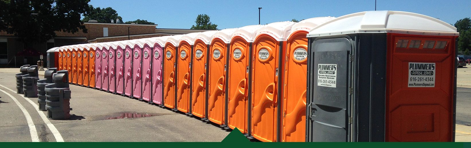 Portable Toilets at an Event provided by Plummers Disposal Services