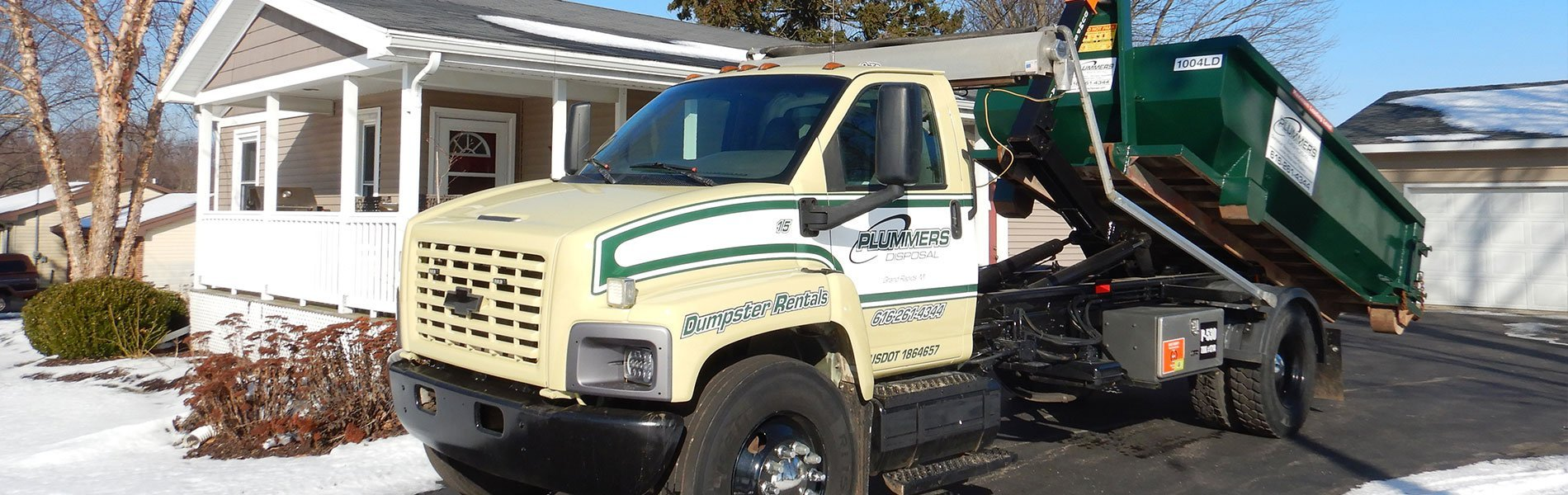 Roll Off Dumpster from Plummers Disposal Services
